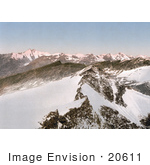 #20611 Historical Photochrome Stock Photography Of The Hohen Tauren (Hohentauern) Ortler Territory As Seen From Sonnblick Tyrol Austria