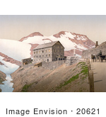 #20621 Historical Photochrome Stock Photography Of Stilfserjoch Stilfer Joch Ferdinandshohe Ortler Territory Tyrol Austria