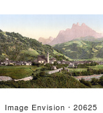 #20625 Historical Photochrome Stock Photography Of The Village Of Primiero In Tyrol Austria