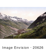 #20626 Historical Photochrome Stock Photography Of Oetz Valley Wildspitze Tyrol Austria