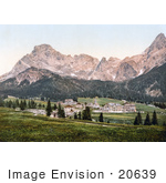 #20639 Historical Photochrome Stock Photography Of San Martino Di Castrozza Tyrol Austria