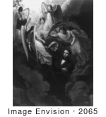 #2065 Abraham Lincoln as he is Greeted by George Washington Among a Host of Angels by JVPD