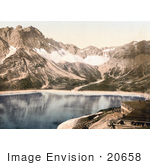 #20658 Historical Photochrome Stock Photography Of Vorarlberg Douglas Hut And Lunersee Tyrol Austria