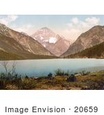 #20659 Historical Photochrome Stock Photography Of Plansee Lake In Tyrol Austria