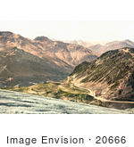 #20666 Historical Photochrome Stock Photography Of Stilferjoch Stilfer Joch Ferdinandshoshe And Mountains Of Silvretta Tyrol Austria