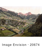 #20674 Historical Photochrome Stock Photography Of Santa Christiana Santa Christiana Val Gardena Tyrol Austria