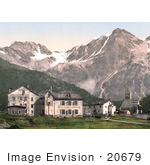 #20679 Historical Photochrome Stock Photography Of Suldenspitze St Gertraud Sulden Tyrol Austria