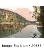 #20683 Historical Photochrome Stock Photography Of Oetz Valley Pipurgersee (Pipurger See) And Acherkogel Tyrol Austria