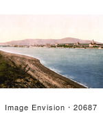 #20687 Historical Photochrome Stock Photography Of Waitzen On The Donau (Danube) River Tyrol Austria