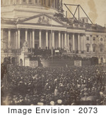 #2073 Inauguration Of Mr Lincoln 4 March 1861