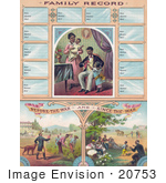 #20753 Stock Photography of an African American Family Record Before and After Slavery by JVPD