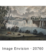 #20760 Stock Photography Of The Upper Waterfalls Of The Genessee River At Rochester New York