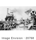 #20768 Stock Photography Of The Stourbridge Lion The First Locomotive 1829