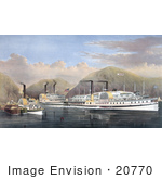 #20770 Stock Photography Of Steamboats On The Hudson River New York