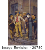 #20780 Stock Photography of Boys Smoking Cigars on the Street by JVPD