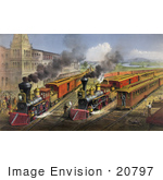 #20797 Stock Photography Of The Lightning Express Trains Leaving The Junction