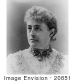#20851 Stock Photography Of First Lady Caroline Harrison Wife Of American President Benjamin Harrison