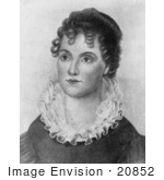 #20852 Stock Photography Of First Lady Hannah Van Buren Wife Of American President Martin Van Buren