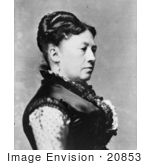 #20853 Stock Photography of First Lady Julia Grant, Wife of American President Ulysses S Grant by JVPD