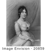 #20859 Stock Photography Of First Lady Dolley Madison Wife Of American President James Madison
