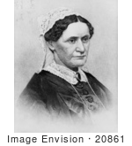 #20861 Stock Photography Of First Lady Eliza Mccardle Johnson Wife Of American President Andrew Johnson