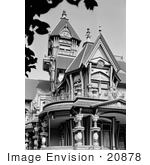 #20878 Stock Photography of the Porch and Exterior of the Queen Anne Victorian Architecture William Carson Mansion House by JVPD