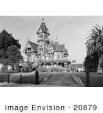 #20879 Stock Photography of the Exterior of the Queen Anne Victorian Architecture William Carson Mansion House, Eureka, California by JVPD