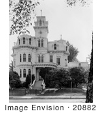 #20882 Stock Photography of the Exterior of the Victorian Albert Gallatin House or Governor's Mansion, Sacramento, California by JVPD
