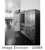 #20889 Stock Photography of the Old Fashioned Ice Box in the Kitchen of the Woodrow Wilson House, Washington DC by JVPD