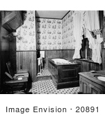 #20891 Stock Photography Of A Historical Bathroom With Tub Sink And Toilet At The Mary Mitchell House Saint Louis Missouri