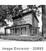 #20893 Stock Photograph of the Victorian Style Swain-Vincent House, Fort Dodge, Iowa by JVPD