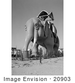 #20903 Stock Photography of Lucy the Elephant, Margate Elephant, Margate City, New Jersey by JVPD