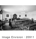 #20911 Stock Photography Of An Interior View Of The Court Room Of The Whaley House San Diego California