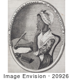 #20926 Stock Photography Of Phillis Wheatley Deep In Thought While Writing Poems
