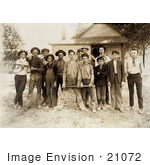 #21072 Stock Photography of a Group of Little Boys on a Baseball Team, 1908 by JVPD