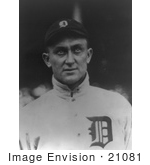 #21081 Stock Photography of Ty Cobb, Baseball Player of the Detroit Tigers by JVPD