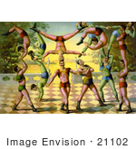 #21102 Stock Photography Of 13 Men Doing Acrobatics
