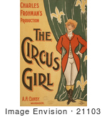 #21103 Stock Photography Of Charles Frohman'S Production The Circus Girl