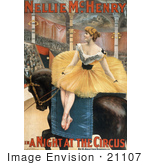 #21107 Stock Photography Of Nellie Mchenry Seated Sideways On A Horse In &Quot;A Night At The Circus&Quot;
