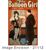 #21112 Stock Photography Of The Balloon Girl Poster Of A Circus Girl And Minister