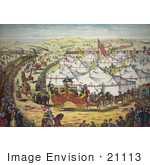 #21113 Stock Photography Of A Circus Parade Around The Big Top Tents