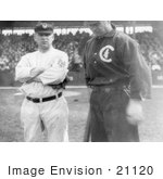 #21120 Stock Photography of Baseball Players John McGraw and Frank Chance in 1911 by JVPD