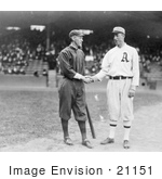 #21151 Stock Photography of Johnny Evers Shaking Hands With Eddie Plank in 1914 by JVPD