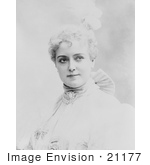 #21177 Stock Photography Of Lillian Russell With Blond Hair Wearing A High Necked Dress