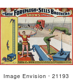#21193 Stock Photography Of Jugglers And Contortionists Performing For The Great Forepaugh And Sells Brothers