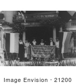 #21200 Stock Photography of Alice Paul With Sue White, Mrs. Benigna Green Kalb, Mrs. James Rector, Mary Dubrow and Elizabeth Kalb by JVPD