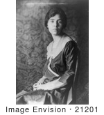 #21201 Stock Photography of Women's Suffragist Alice Paul Sitting in a Chair With Her Hands in Her Lap by JVPD