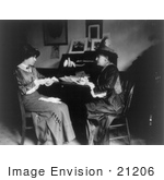 #21206 Stock Photography Of Alice Paul And Helen Gardener At A Desk