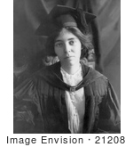 #21208 Stock Photography Of Alice Paul In A Graduation Cap And Gown In 1913