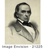 #21225 Stock Photography Of A Portrait Of Daniel Webster
